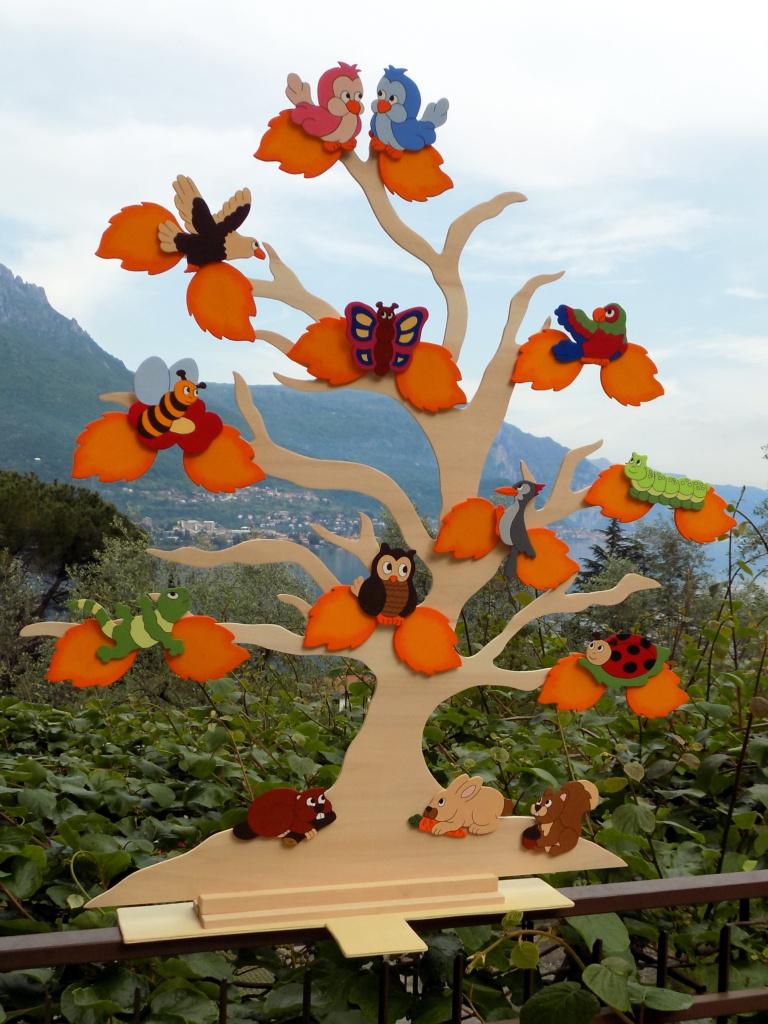 Tableau-Mariage-Animaletti-Foglie-Giallo-Arancio