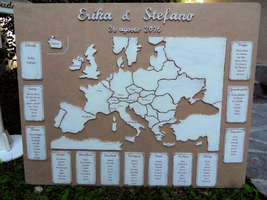 Tableau-Mariage-Cartina-Europa-shabby-chic