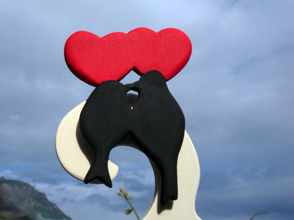 Tableau-Mariage-Albero-Cuori-Rossi-Uccellini-Dettaglio
